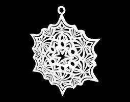 snowflake ornament 3d print model