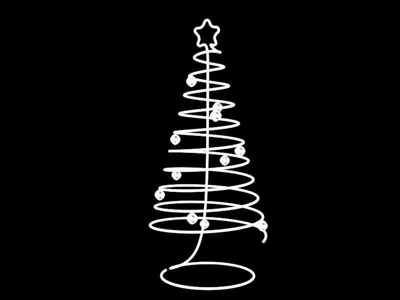 spiral christmas tree 3d model stl 1