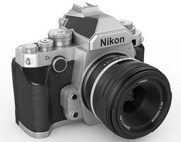 nikon df digidal camera 3d model max 3ds fbx c4d lwo lw lws hrc xsi