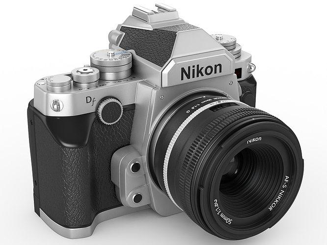 nikon df digidal camera 3d model max obj mtl 3ds fbx c4d lwo lw lws 1