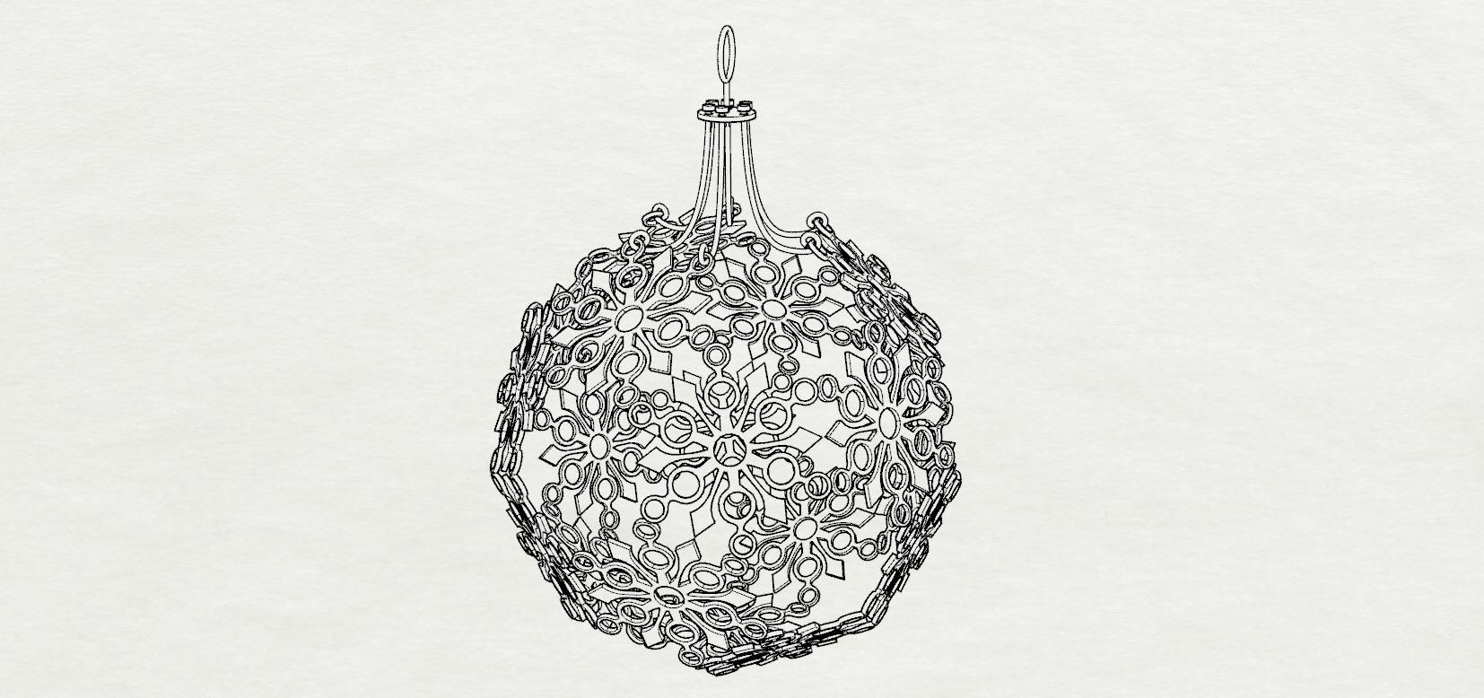 3d print model snowflake christmas ornament cgtrader