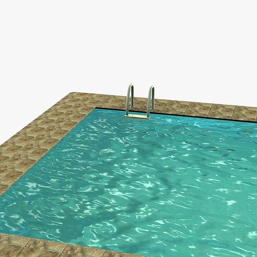 Low poly swimming pool 3D model | CGTrader