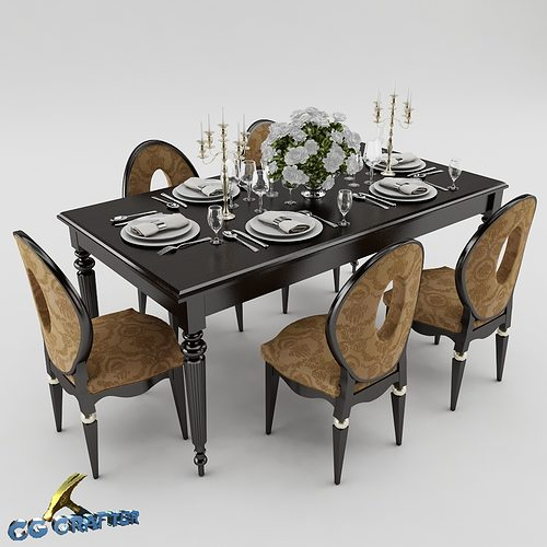 3D model Dining table set dining-table | CGTrader