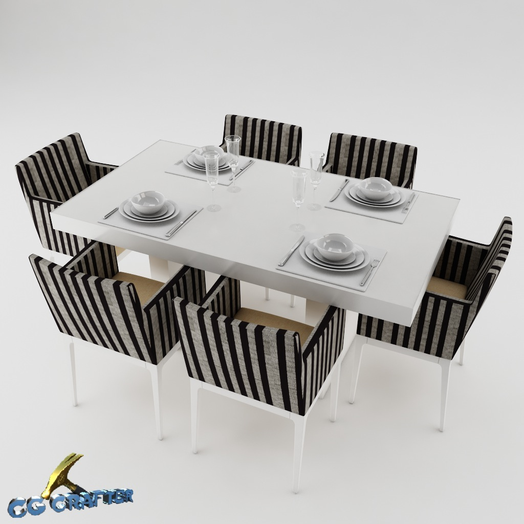 Dining Table Models dining table set dinning-table 3d model | cgtrader