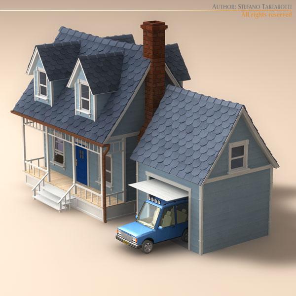 Good ... Cartoon House 3d Model Obj 3ds Fbx C4d Dxf Dae 4 ...