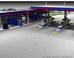 gas-pump 3D model Gas station