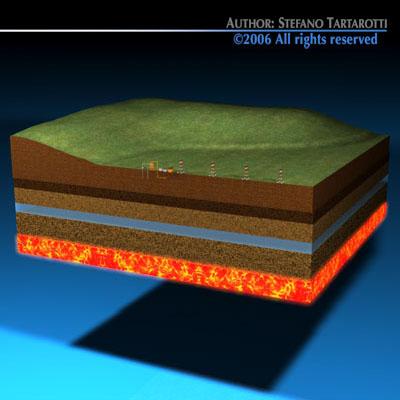 Geotermic plant cutaway