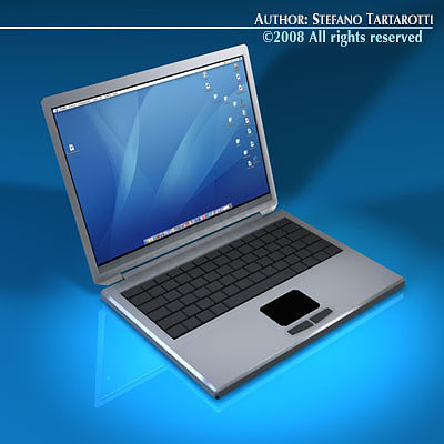 laptop 3d model obj mtl 3ds c4d dxf 1