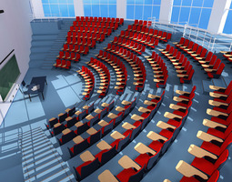 lecture hall modern 3d