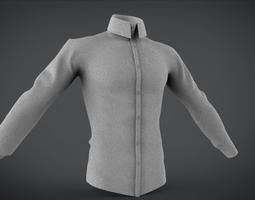 high Shirt court and long 3D asset