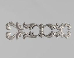 Horizontal decor 3D printable model corbel