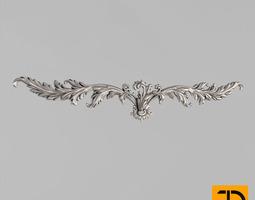 Horizontal decor carved decorative 3D printable model
