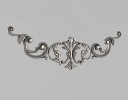 Horizontal decor 3D print model carved