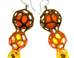 3D printable model Voronoi Earings