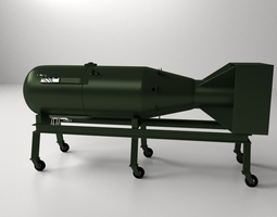Little Boy Atomic Bomb 3D Model
