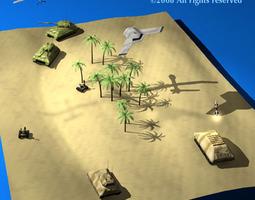 Modern warfare scenario 3D model