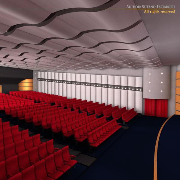 Movie theatre 3d model obj 3ds c4d dxf for Theatre model