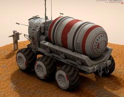 3D model Lunar vehicles collection