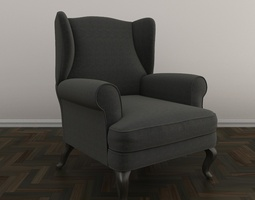 3D Free Upholstered Armchair