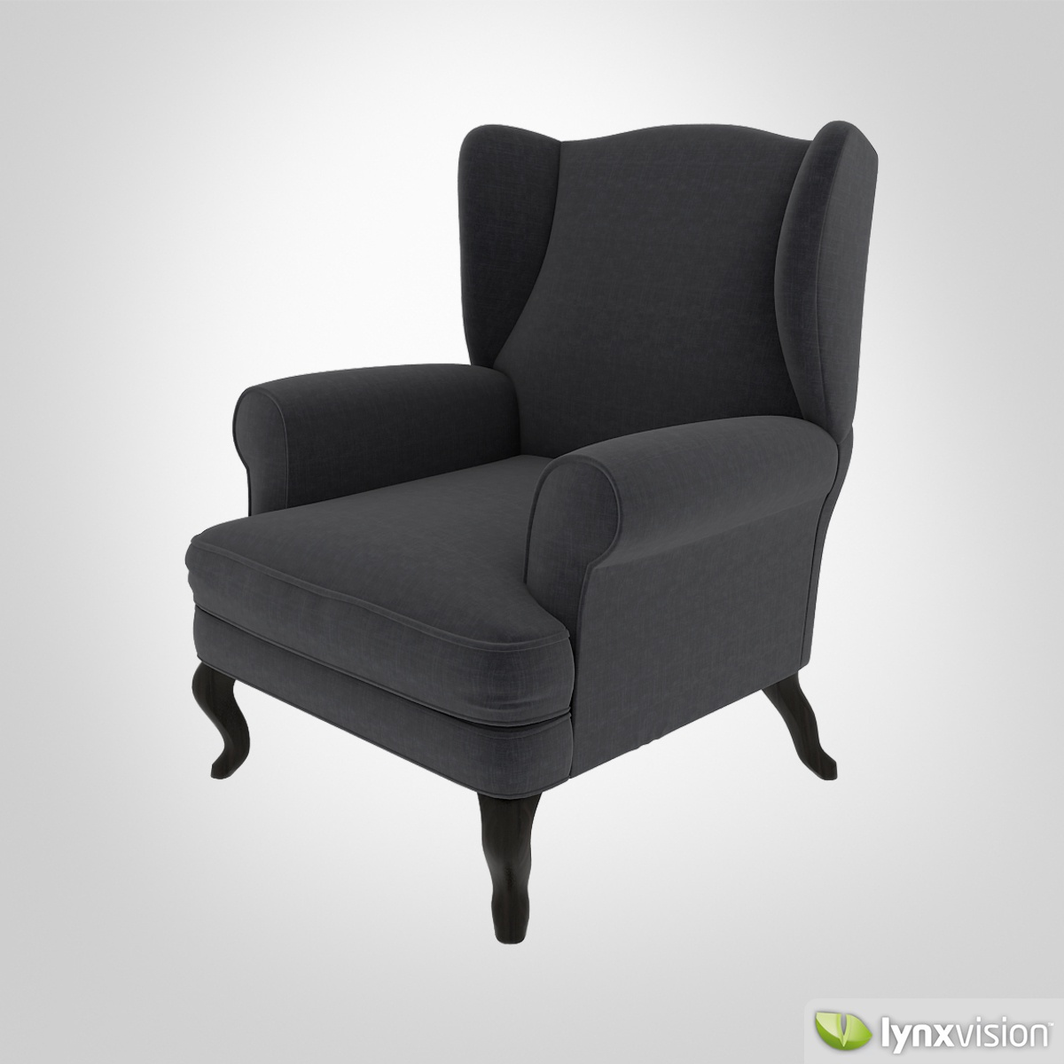 Free upholstered armchair free 3d model max obj fbx for Model furniture