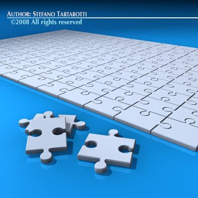 Puzzle 3d Model Obj 3ds C4d Dxf 3