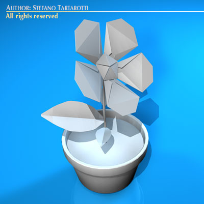 Paper Flower 3d Model Cgtrader