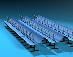 solar thermodynamic panels 3d model