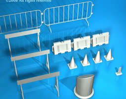 Road barriers 3D