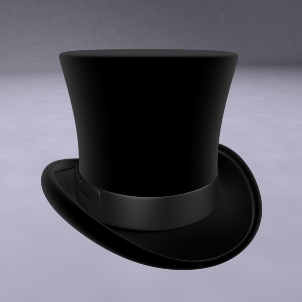 Top Hat 3D model  b2d7bbf5ec3e
