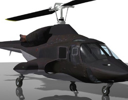airwolf bell 222 helicopter 3d animated