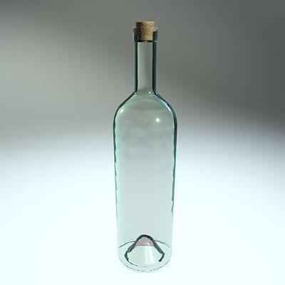 clear glass bottle 3d model obj 3ds fbx c4d dxf X 1