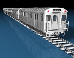 Subway train 3D