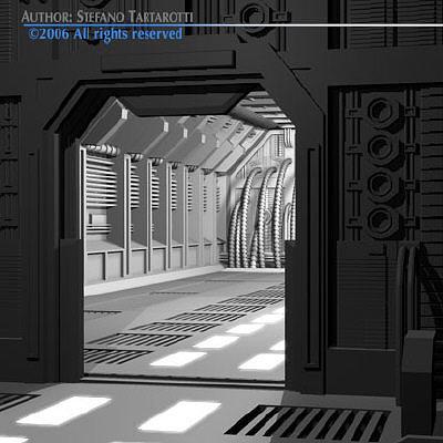 3d Model Science Fiction Door Cgtrader