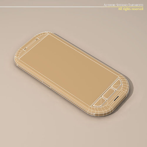 smartphone 3d model obj 3ds c4d dxf 1