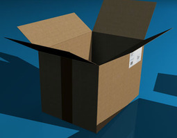 Shipping boxes 3D