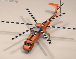 3D model S-64E Skycrane