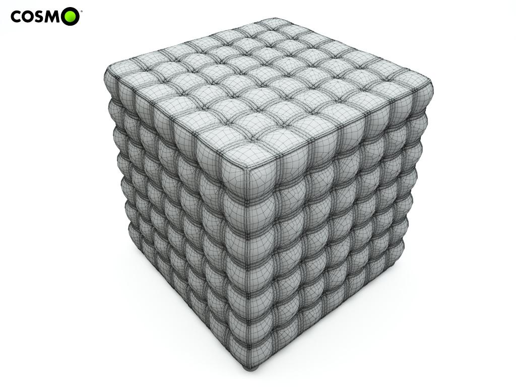 pouf cube 3d model max. Black Bedroom Furniture Sets. Home Design Ideas