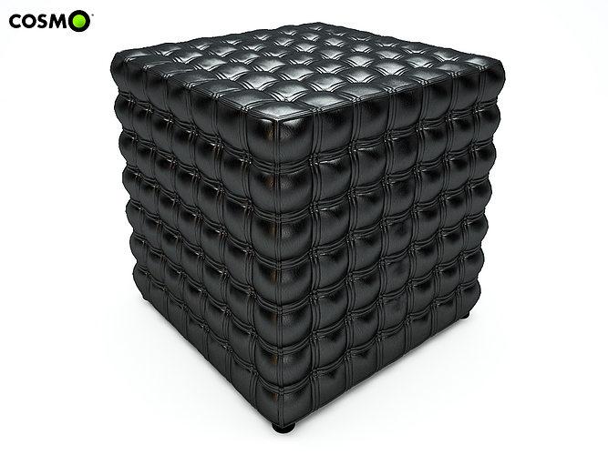 pouf cube 3d model max 1