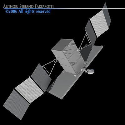 radar satellite 3d model obj 3ds c4d dxf 1