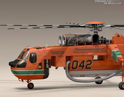 S-64F Skycrane 3D model