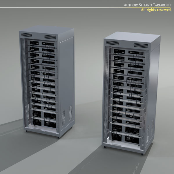 Server rack 3D Model OBJ 3DS C4D DXF | CGTrader.com