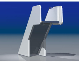 3d model airport stair