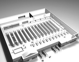 Market building 3D model