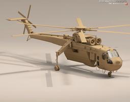 S-64E and S-64F Skycrane 3D