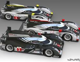Audi R18 LeMans 2011 3D