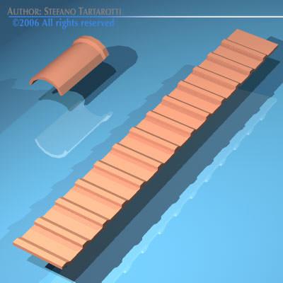 roof tiles 3d model obj 3ds dxf 5