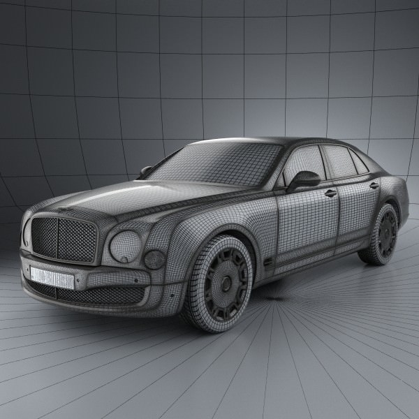 Bentley Mulsanne: Bentley Mulsanne 2011 3D Model MAX OBJ 3DS FBX C4D LWO LW