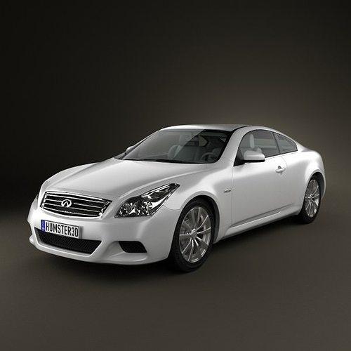 infiniti g37 coupe 3d model max obj 3ds fbx c4d lwo lw lws 1