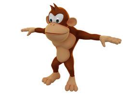 cartoon monkey model 3d