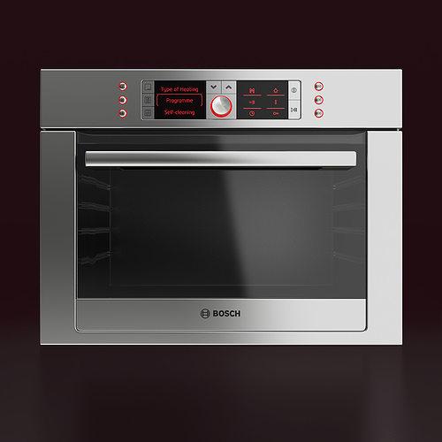 Bosch Built In Combination Oven 3d Model Cgtrader